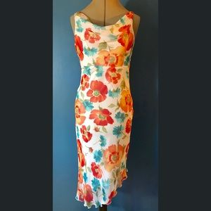 My Michele Floral Polyester Midi Dress